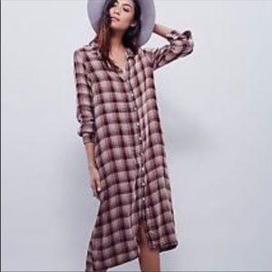 Free People x CP Shades plaid dress size medium